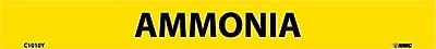 Pipemarker, Adhesive Vinyl, Ammonia, 1X9 1/2