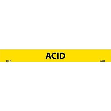 Pipemarker, Adhesive Vinyl, Acid, 1X9 1/2