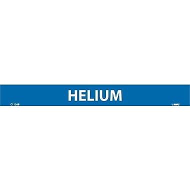 Pipemarker, Adhesive Vinyl, Helium, 1X9 1/2