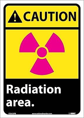 Caution, Radiation Area, 14X10, Adhesive Vinyl