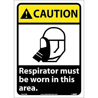 Caution, Respirator Must Be Worn In This Area, 14