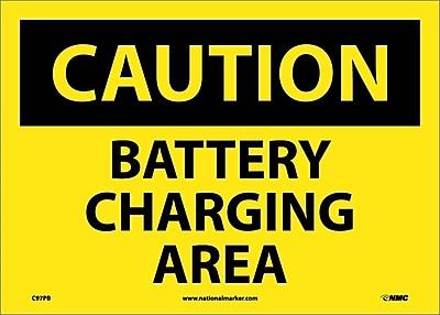 Caution, Battery Charging Area, 10X14, Adhesive Vinyl