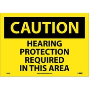 Caution, Hearing Protection Required In This Area, 10X14, Adhesive Vinyl