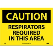 Caution, Respirators Required In This Area, 10X14, Adhesive Vinyl