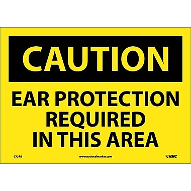 Caution, Ear Protection Required In This Area, 10X14, Adhesive Vinyl