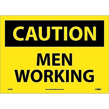 Caution, Men Working, 10X14, Adhesive Vinyl