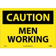 Caution, Men Working, 10X14, Adhesive Vinyl