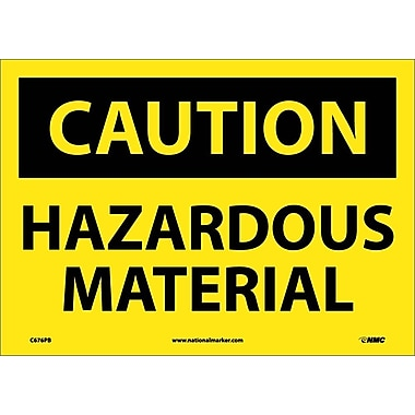 Caution, Hazardous Material, 10X14, Adhesive Vinyl