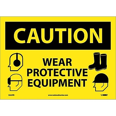 Caution, Wear Protective Equipment, Graphics, 10