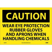 Caution, Wear Eye Protection Rubber Gloves And Aprons When Handling Chemicals