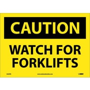 Caution, Watch For Forklifts, 10X14, Adhesive Vinyl