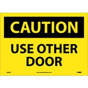 Caution, Use Other Door, 10X14, Adhesive Vinyl