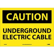 Caution, Underground Electric Cable, 10X14, Adhesive Vinyl