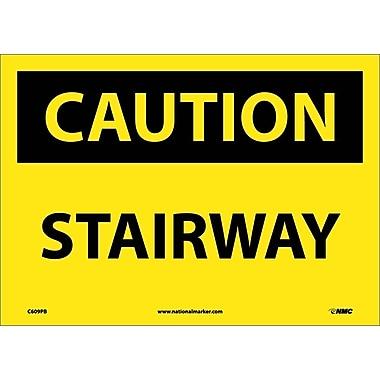Caution, Stairway, 10X14, Adhesive Vinyl