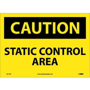 Caution, Static Control Area, 10X14, Adhesive Vinyl