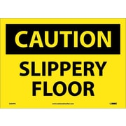 Caution, Slippery Floor, 10X14, Adhesive Vinyl