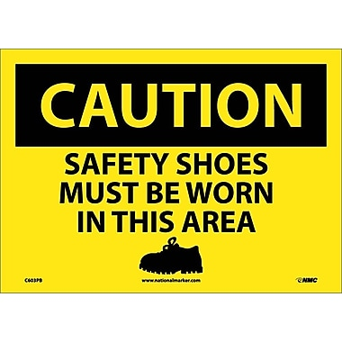 Caution, Safety Shoes Must Be Worn In This Area, Graphic, 10