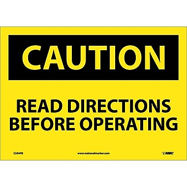 Caution, Read Directions Before Operating, 10