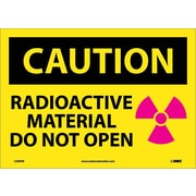 Caution, Radioactive Material Do Not Open, Graphic, 10X14, Adhesive Vinyl