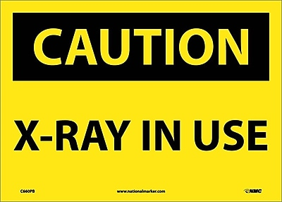 Caution, X-Ray In Use, 10X14, Adhesive Vinyl