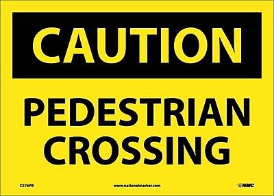 Caution, Pedestrian Crossing, 10X14, Adhesive Vinyl