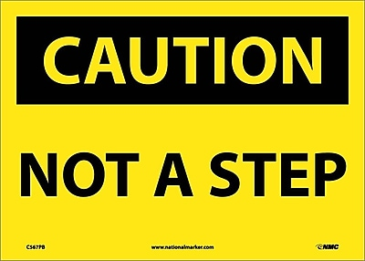 Caution, Not A Step, 10X14, Adhesive Vinyl