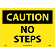 Caution, No Steps, 10X14, Adhesive Vinyl