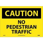 Caution, No Pedestrian Traffic, 10X14, Adhesive Vinyl