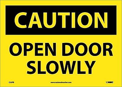 Caution, Open Door Slowly, 10X14, Adhesive Vinyl