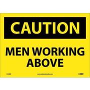 Caution, Men Working Above, 10X14, Adhesive Vinyl