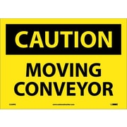 Caution, Moving Conveyor, 10X14, Adhesive Vinyl