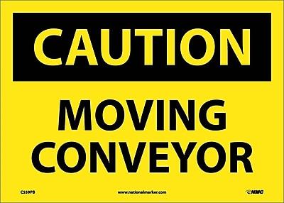 Caution, Moving Conveyor, 10X14, Adhesive Vinyl
