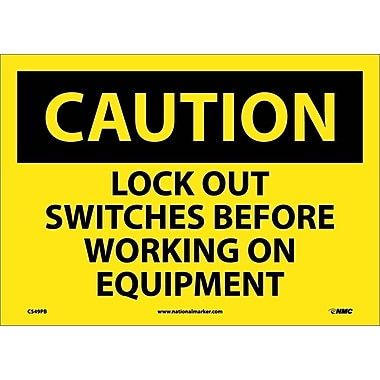 Caution, Lock Out Switches Before Working On Equipment, 10