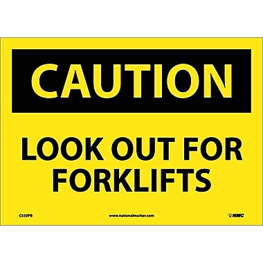 Caution, Look Out For Forklifts, 10X14, Adhesive Vinyl