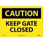 Caution, Keep Gate Closed, 10X14, Adhesive Vinyl