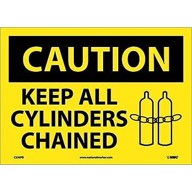 Caution, Keep All Cylinders Chained, Graphic, 10X14, Adhesive Vinyl