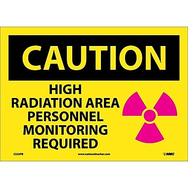 Caution, High Radiation Area Personnel Monitoring Required, Graphic, 10