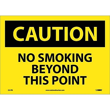 Caution, No Smoking Beyond This Point, 10X14, Adhesive Vinyl
