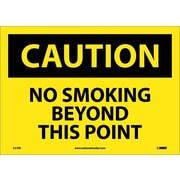 Caution, No Smoking Beyond This Point, 10X14, Adhesive Vinyl