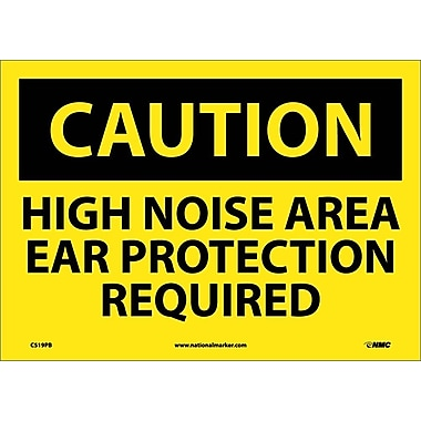 Caution, High Noise Area Ear Protection Required, 10