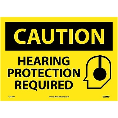 Caution, Hearing Protection Required, Graphic, 10