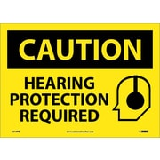 Caution, Hearing Protection Required, Graphic, 10X14, Adhesive Vinyl
