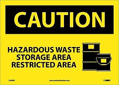 Caution, Hazardous Waste Storage Area Restricted Area, Graphic, 10X14, Adhesive Vinyl