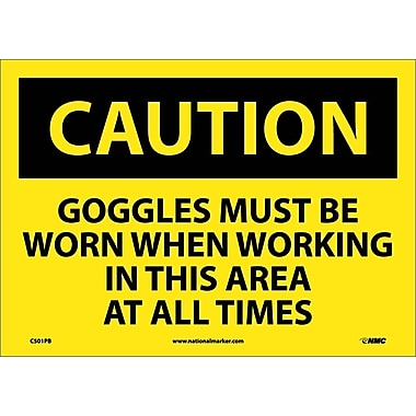 Caution, Goggles Must Be Worn When Working In This Area At All Times, 10