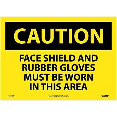 Caution, Face Shield And Rubber Gloves Must Be Worn In This Area, 10
