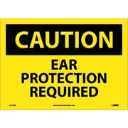 Caution, Ear Protection Required, 10X14, Adhesive Vinyl