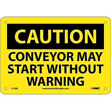 Caution, Conveyor May Start Without Warning, 7