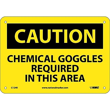 Caution, Chemical Goggles Required In This Area, 7