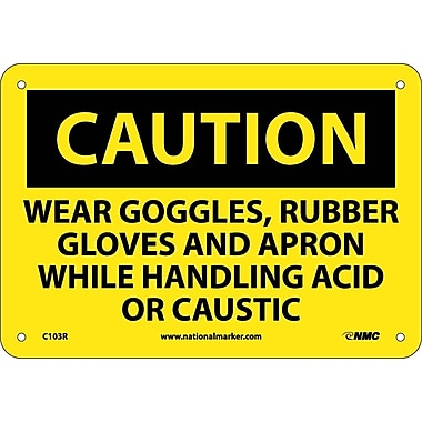 Caution, Wear Goggles Rubber Gloves And Apron, 7