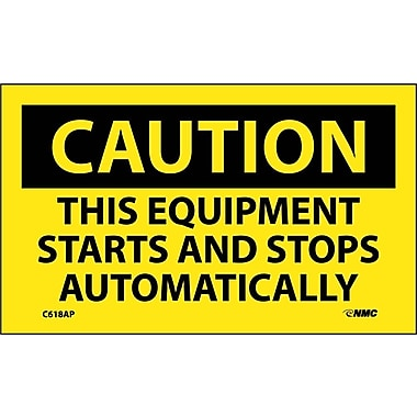 Caution, This Equipment Starts And Stops Automatically, 3